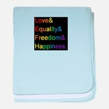 Funny Marriage equality baby blanket