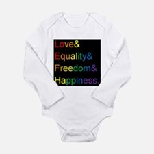 Funny Equality Long Sleeve Infant Bodysuit