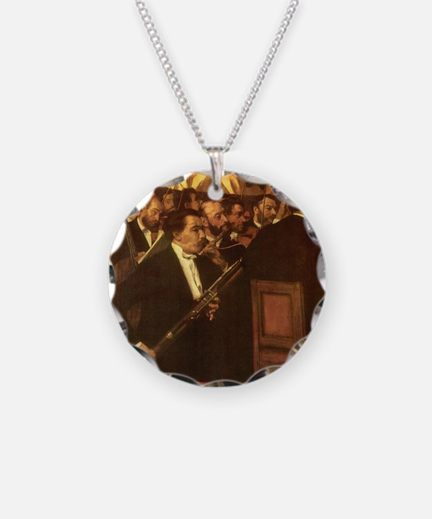 Orchestra of Opera by Degas Necklace Circle Charm