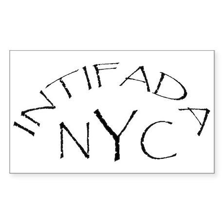 INTIFADA NYC Rectangle Sticker