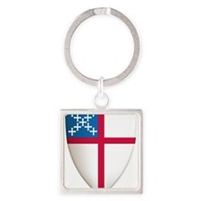 Cute Episcopal Square Keychain