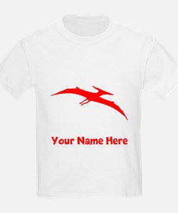 Pterodactyl Silhouette (Red) T-Shirt