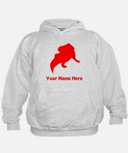 Protoceratops Silhouette (Red) Hoodie