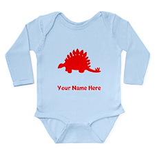 Stegosaurus Silhouette (Red) Body Suit