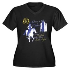 Cute Once upon time Women's Plus Size V-Neck Dark T-Shirt