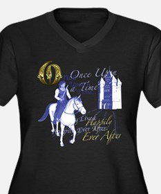 Cute Happily ever after Women's Plus Size V-Neck Dark T-Shirt