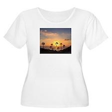 Sunset Palms Plus Size T-Shirt