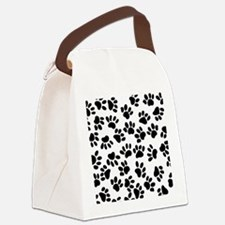 Paw Prints Canvas Lunch Bag