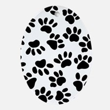 Paw Prints Ornament (Oval)