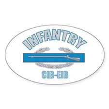 Military Infantry Oval Decal