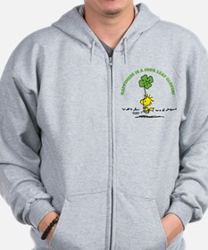 Happiness is a Four Leaf Clover Zip Hoodie