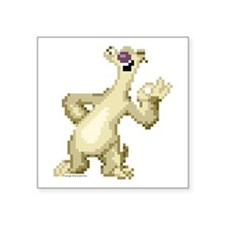 "Ice Age 8-Bit Sid 2 Square Sticker 3"" x 3"""