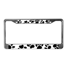 Paw Prints License Plate Frame