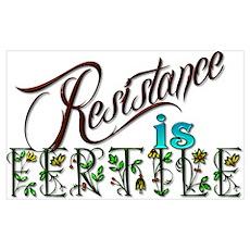Resistance is fertile Poster