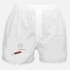Grey/Red Boxer Shorts