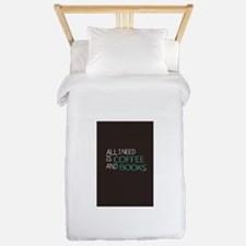 All I need is coffee and books Twin Duvet