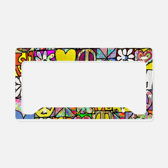 Psychedelic Shalom License Plate Holder
