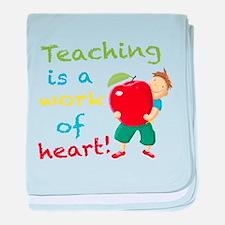 Inspirational Teacher baby blanket