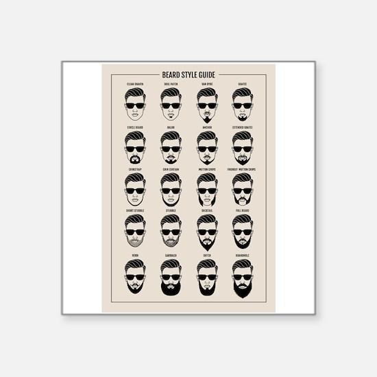 beard style guide Sticker