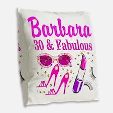 30TH PRIMA DONNA Burlap Throw Pillow