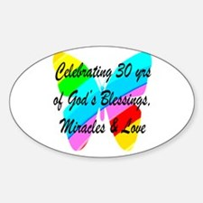 GOD LOVING 30TH Decal
