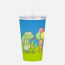 Frog with Icecream Acrylic Double-wall Tumbler