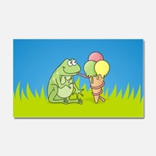 Frog with Icecream Car Magnet 20 x 12