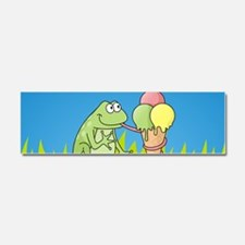 Frog with Icecream Car Magnet 10 x 3