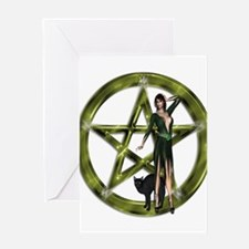 The Wicca Pentacle Greeting Cards