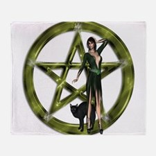 The Wicca Pentacle Throw Blanket