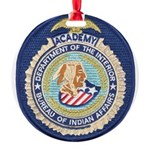 Bureau of Indian Affairs Academy Round Ornament