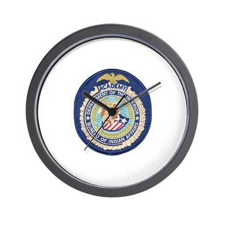 bureau of indian affairs academy wall clock by policeshoppe. Black Bedroom Furniture Sets. Home Design Ideas
