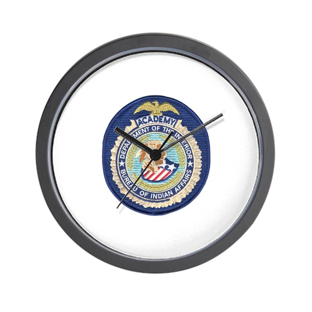 Bureau of indian affairs academy wall clock by policeshoppe for Bureau of indian affairs