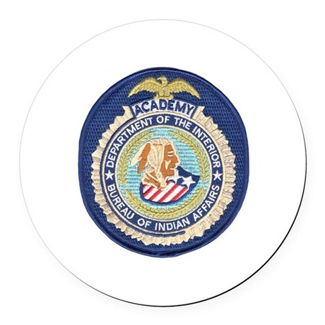 bureau of indian affairs academy round car magnet by policeshoppe. Black Bedroom Furniture Sets. Home Design Ideas