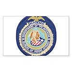 Bureau of Indian Affairs Sticker (Rectangle 10 pk)