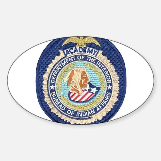 Bureau of Indian Affairs Academy Sticker (Oval)