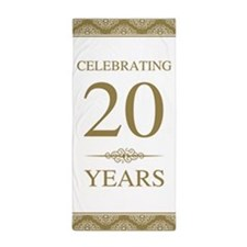 20th Wedding Anniversary Beach Towel