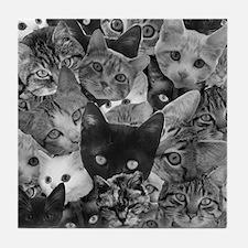 Kitty Collage Tile Coaster