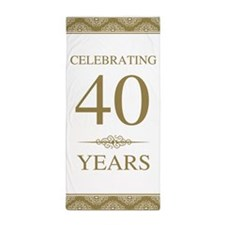 40th Wedding Anniversary Beach Towel
