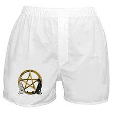 Wolf Pentacle Pentagram Boxer Shorts