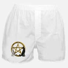Wolf Pentacle Pentagram Boxer Shorts