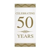 50th wedding anniversary Beach Towels