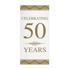 50th Wedding Anniversary Beach Towel