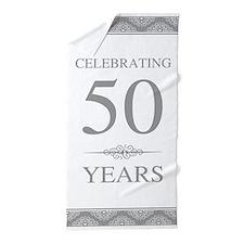 50th Wedding Anniversary Beach Towel
