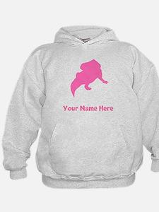 Protoceratops Silhouette (Pink) Hoodie