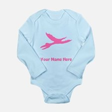 Pterodactyl Silhouette (Pink) Body Suit