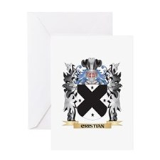 Cristian Coat of Arms - Family Cres Greeting Cards
