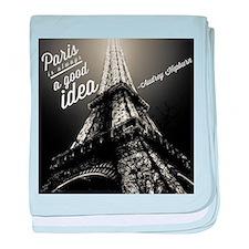 Audrey Hepburn Paris baby blanket