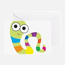 Wiggle Worm / Worm Love Greeting Card!