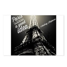 Audrey Hepburn Paris Postcards (Package of 8)